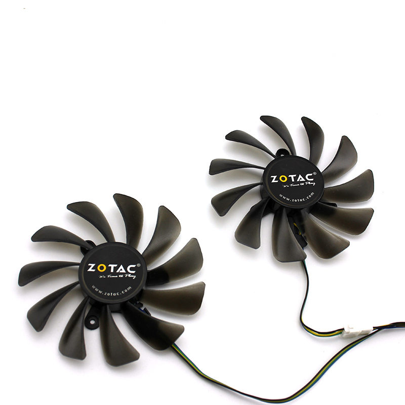 4pin 95mm GeForce GTX 1080 Ti AMP Edition Cooler Cooling Fan For ZOTAC ZT-P10810D-10P gtx1080ti Video Cards As Replacement image