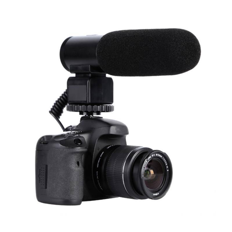 MIC-03 Professional Electret Microphone Camera External Stereo Microphone Mike For Nikon D7500 D7200 D5600 D5500 D5300 D3300 D5