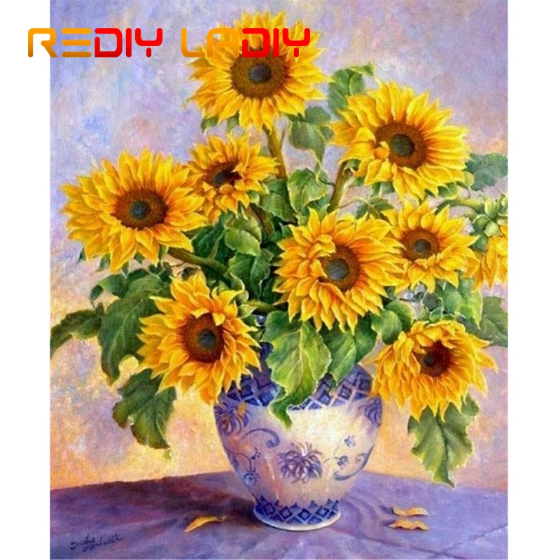 DIY Beaded Embroidery Kits Sunflowers Needlework High Quality Beads Partial Crystal Beaded Cross Stitch Hobby & Crafts Beadwork