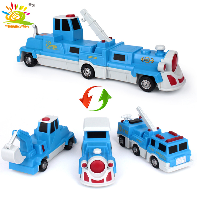 10PCS Construction Engineering Excavator Magnetic Building Blocks DIY Magic Train Truck Vehicle educational Toys For Children 2