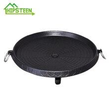 HIPSTEEN корейский тип бездымный антипригарный медицинский камень вечерние плиты гриль жаровня для внутреннего и наружного черный