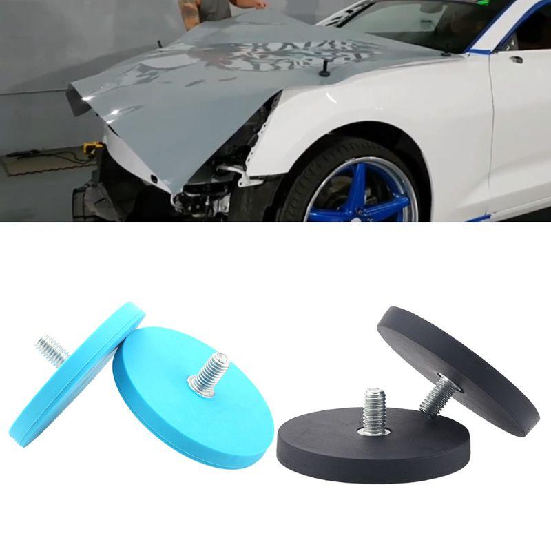 2pcs Car Wrap Gripper Strong Magnetic Holder Outer Stud Vehicle Foil Vinyl Film
