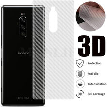 10Pcs 3D Carbon Fiber Protective Guard Film For Sony Xperia 1 5 10 Plus XZ3 XZ2 XZ1 Compact XZ XZ2 Premium Back Screen Protector(China)