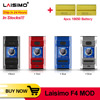 Original Laisimo F4 Box MOD with 1.3 inch colorful Screen Center 510 thread for 41mm Tank E Cigarette Vape mod VS squonk Mod