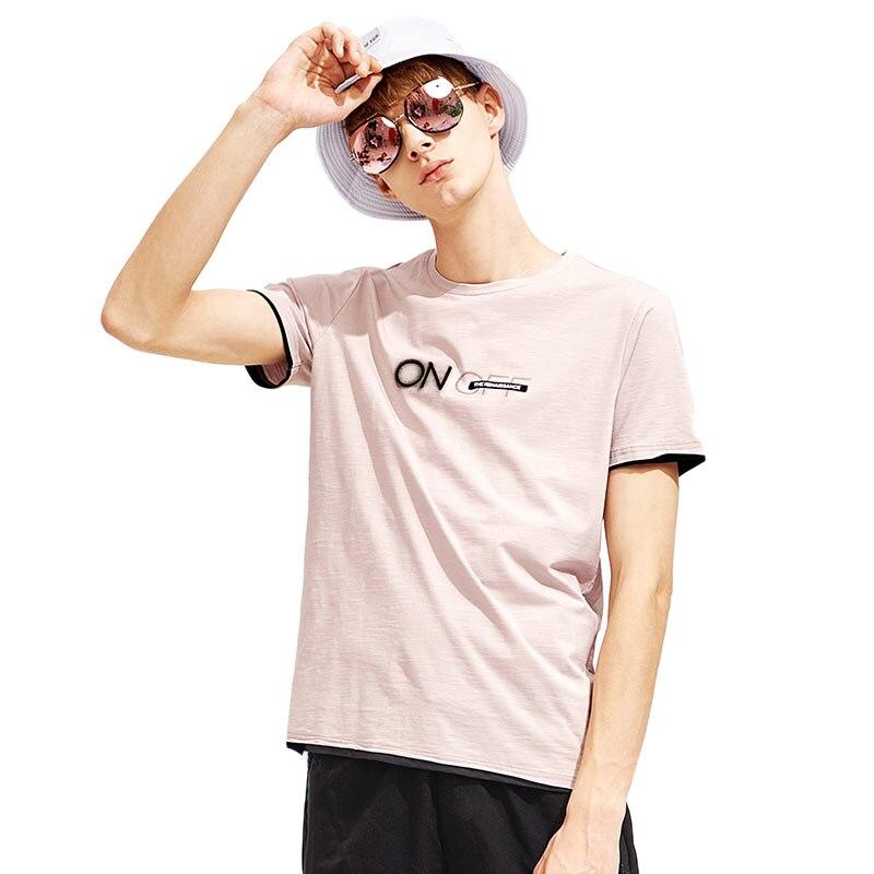 T shirt men fashion brand design 100% cotton