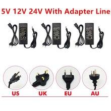 цены Power Adapter Supply AC to DC 5V 12V 24V 1A 2A 3A 5A 6A 8A Lighting Transformer For Led Strip 5 12 24 V Power Supply LED Strip