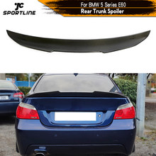 Z włókna węglowego tylny Spoiler bagażnika spojler do BMW serii 5 E60 baza Sedan M Tech M5 2004 - 2009 tylny Spoiler skrzyni bagażnika tylny spojler