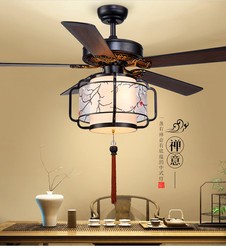 LED シーリングファンライトレストランリビングルーム茶室クラブランタン天井ファンライト Led 天井のファン