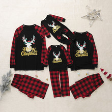 Christmas Pyjamas Set Women Men Parent-child Sleepwear Suit Warm Long Sleeve Pyjamas Sets Wear Home Cotton Free shipping(China)