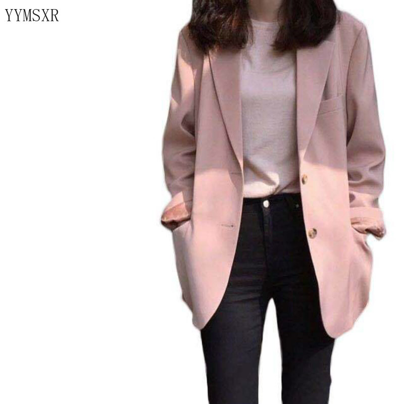 High quality pink jacket feminine 2020 Korean spring and autumn casual elegant ladies blazer Fashion suit office Female