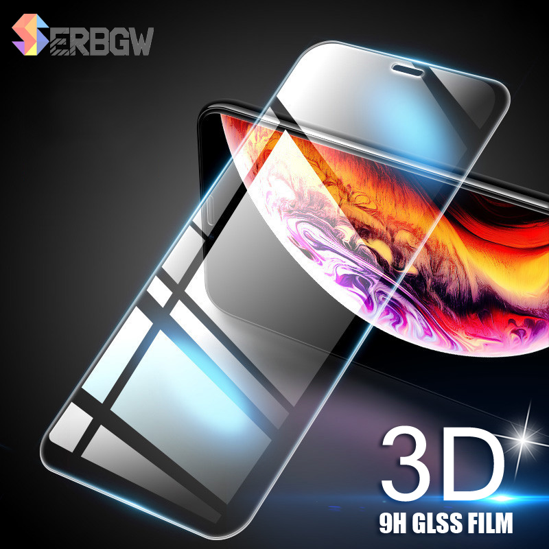3D 9H Tempered Glass For IPhone 11 Pro X XS MAX XR Screen Protective Film For IPhone 6 6s 7 8 Plus 4s 5 5s SE 5c Glass Protector