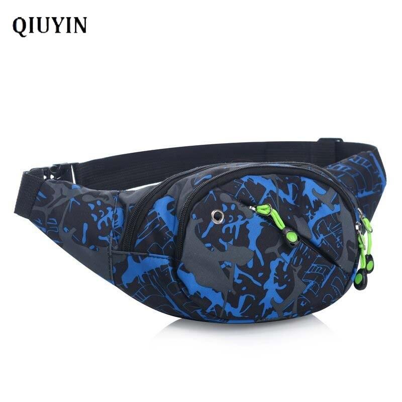 Qiuyin Women's Waist Bag Waterproof Travel Wallet Nylon Sports Luxury Cross Body Fanny Pack Chest/belt/hip Pouch Patterned Bum