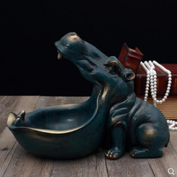 [MGT] Hippopotamus statue decoration resin artware sculpture statue decor home decoration accessories 4