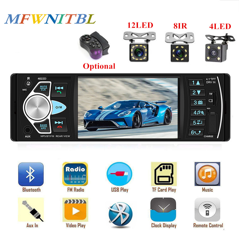 LTBFM 4022D Bluetooth Autoradio 1 Din <font><b>Car</b></font> Radio <font><b>Car</b></font> Stereo Auto Multimedia MP5 Player TF USB MP3 Radio Coche <font><b>Audio</b></font> <font><b>Video</b></font> Player image