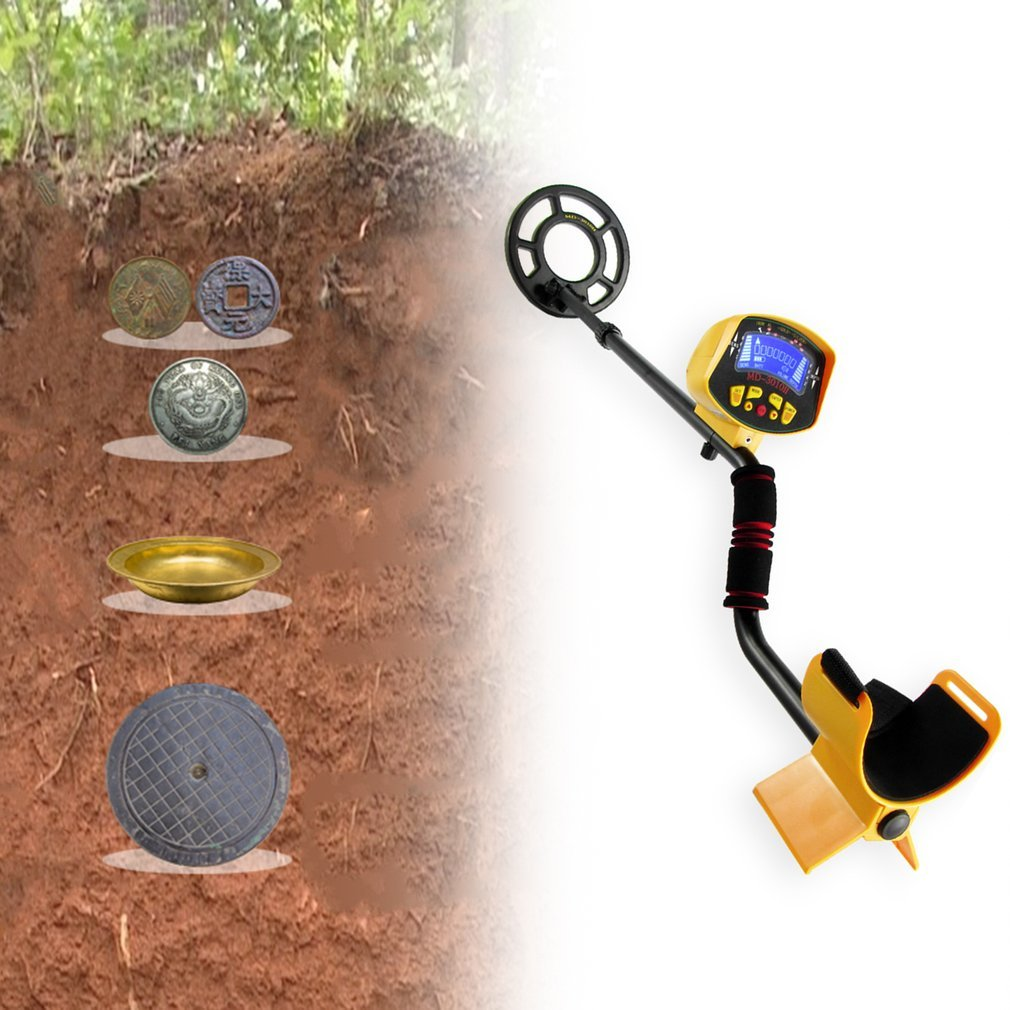 Professional Underground Metal Detector <font><b>MD3010</b></font> Treasure Hunter Gold Digger MD-3010 LCD Display High Sensitivity Seeking Tool image