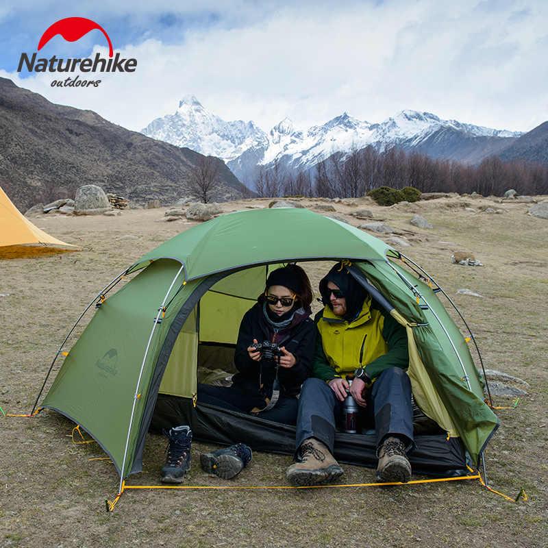 Naturehike ใหม่ Cloud Peak 2 Camping เต็นท์ 2 คนหกเหลี่ยม Ultralight แบบพกพา 4 Seasons เต็นท์ 20D กันน้ำเดินป่าตั้งแคมป์
