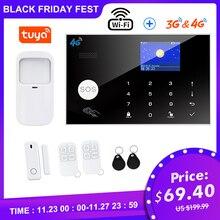 TUGARD WiFi 3G 4G sistema de alarma de seguridad, Tuya Smart Kit de alarma de ladrón para hogar con 433MHz detectores inalámbricos brazo remoto desarmar