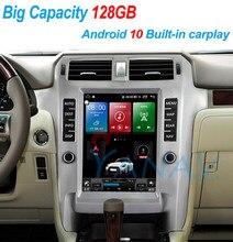 128G Android 10 Tesla Bildschirm Navigation Auto Multimedia Radio Player Für Lexus GX 2010-2015 gebaut in carplay video audio player
