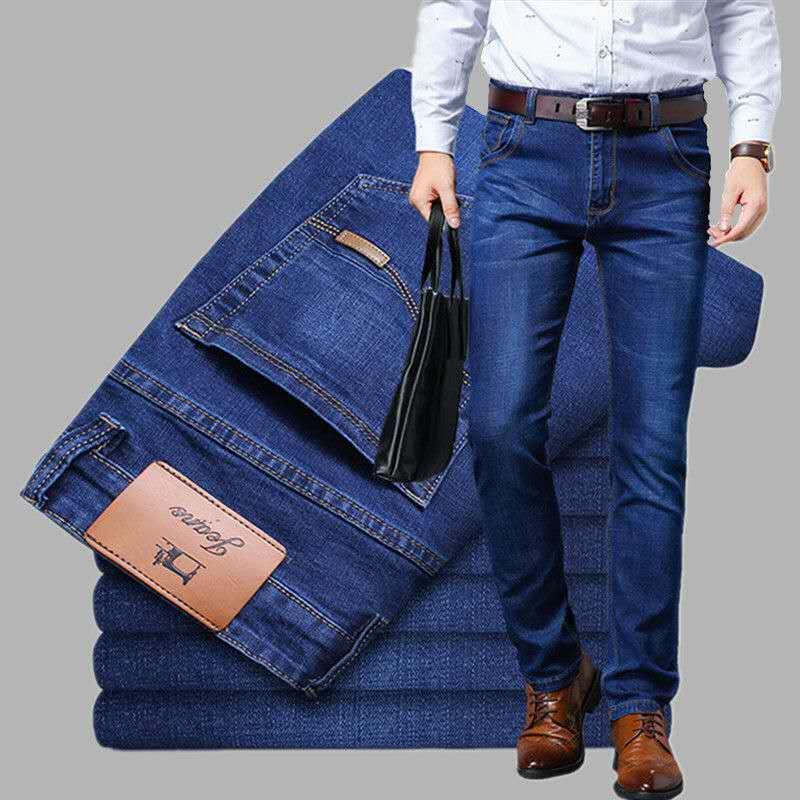 2020 Fashion Summer Stretch Men's Pants Men's Jeans Men's Loose Straight Leg Casual Men's Pants Cheap Work Pants Men