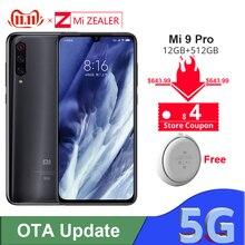 Original Xiao Mi Mi 9 Pro 5G Snapdargon 855 PLUS 12GB RAM 512GB ROM 48MP AI กล้อง 4000 mAh แบตเตอรี่สมาร์ทโฟน