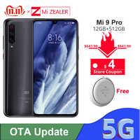 Originale Xiao mi mi 9 Pro 5G Snapdargon 855 Plus 12GB di RAM 512GB di ROM 48MP AI DELLA MACCHINA Fotografica 4000 mAh Batteria Per Smartphone