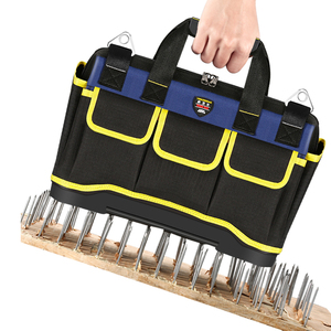 Image 3 - Tool Bag Portable Electrician Bag Multifunction Repair Installation Canvas Large Thicken Tool Bag Work Pocket