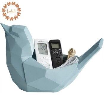 Géométrie Créative Oiseau Support Pour Téléphone TV Télécommande Porte-clés Salon Table Basse Décoration Mignon Oiseau Meilleur Cadeau