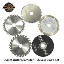 85 мм режущий инструмент, пильные диски для электроинструмента, циркулярное пильное полотно для дерева, HSS пильный диск Dremel, режущий Циркулярный мини-пильный диск