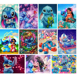 Diamond Painting Mosaic Cross-Stitch Embroidery-Picture-Anime Lilo Kids Decor Diy 5d