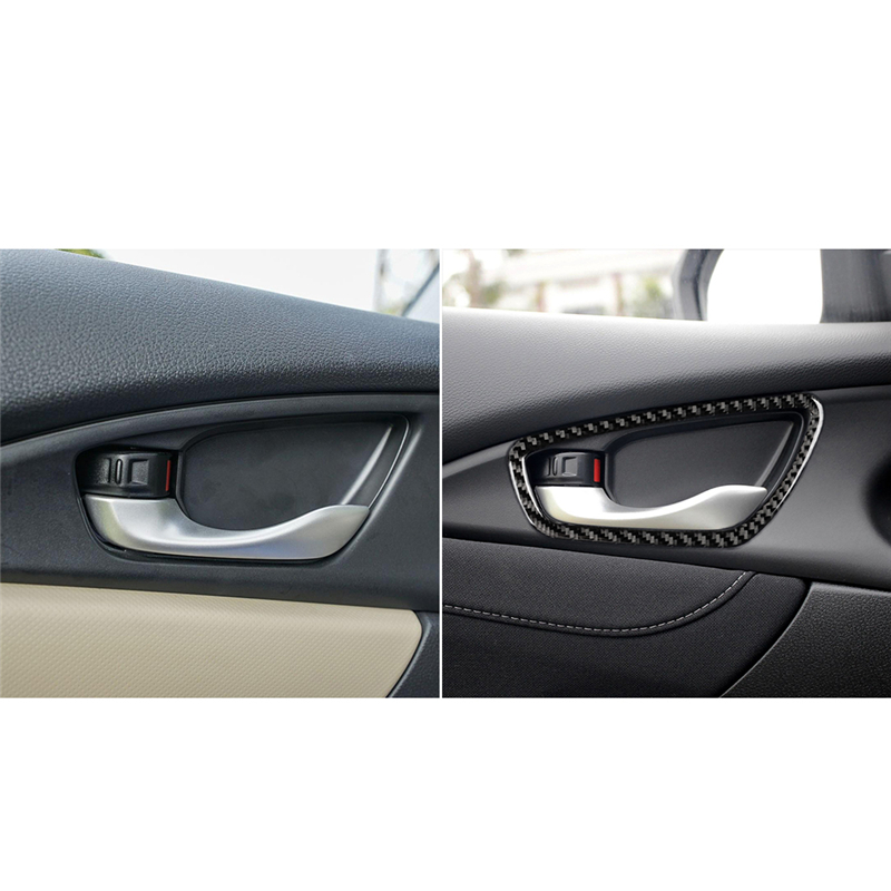 Carbon Fiber Door Handle Cover For Honda Civic 10th 2016-2019 Accessories
