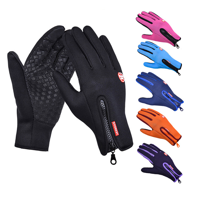 Mens Winter Warm Gloves Touch Screen Fishing Waterproof Lady Ski Autumn Breathable Sport Ridding Windproof Women Non-Slip Gloves