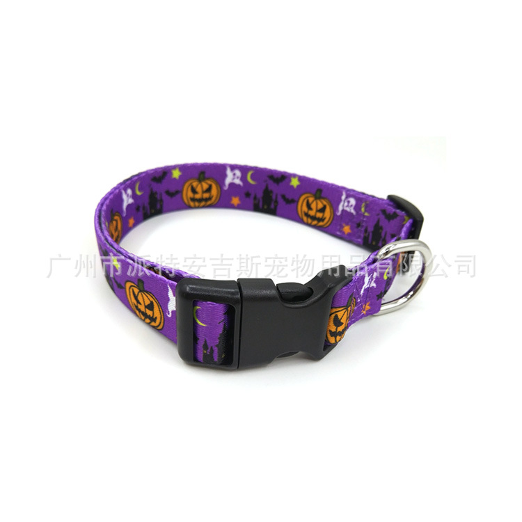 New Style Halloween Pet Collar Dog Neck Ring Pet Bell Neck Ring Dog Holiday Neck Ring Hand Holding Rope