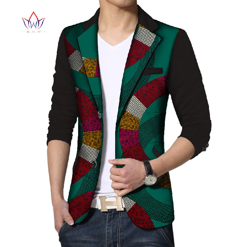 Customize Dashiki Men African Print Clothing Mens Blazer Casual Suits Jacket  Men's Jacket Plus Size African Clothing BRW WYN133