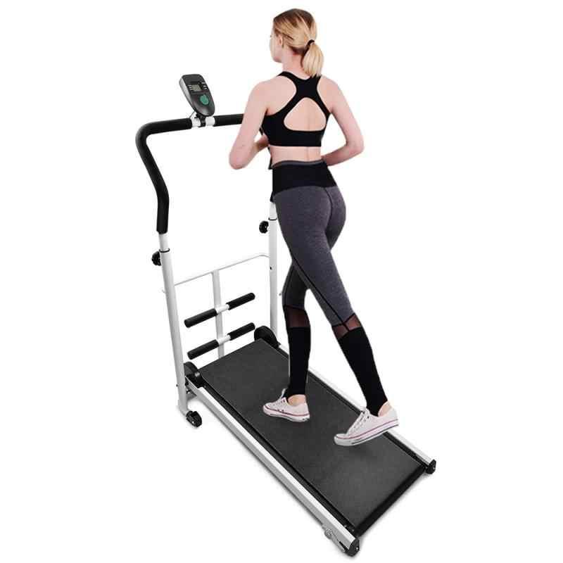 1Pcs Treadmill 2020 Kebugaran Gym Peralatan Mekanik Baru Mini Lipat Berjalan Pelatihan Kebugaran Treadmill Home Olahraga HWC