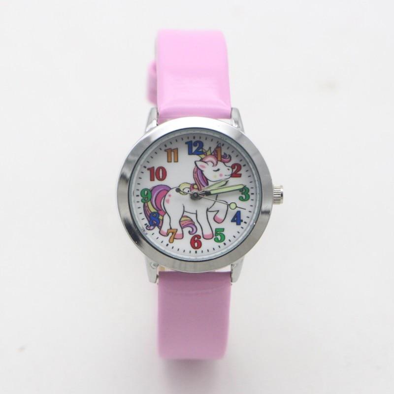 Часы Детские кварцевые с мультяшным единорогом, модные студенческие для мальчиков и девочек