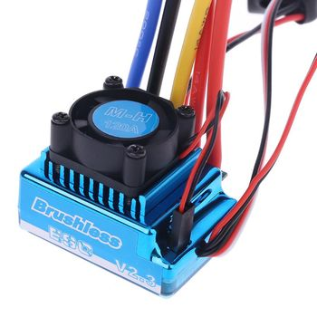 Waterproof 45A 60A 80A 120A Brushless ESC Electric Speed Controller Dust-proof for 1/8 1/10 1/12 RC Car Crawler RC Boat Part rocket 45a 60a 80a 120a 150a esc brushless senseless speed controller with program card for 1 8 1 10 1 12 1 20 rc car
