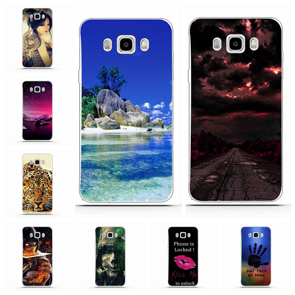 For Samsung Galaxy J5 2016 Case TPU For Samsung Galaxy J5 2016 J510FN J510F J510G Cover Sea Patterned For Samsung J5 2016 Coque image