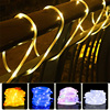 100 LED Solar Light String Outdoor Waterproof for Garden Decoration Solar Powered Lamp Rope Strip Fairy Lights Christmas Wedding promo