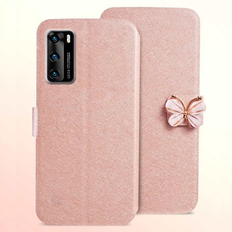 3 típusú tok a Huawei P40 ANA-AN00 luxus flip bőrből készült - Mobiltelefon alkatrész és tartozékok