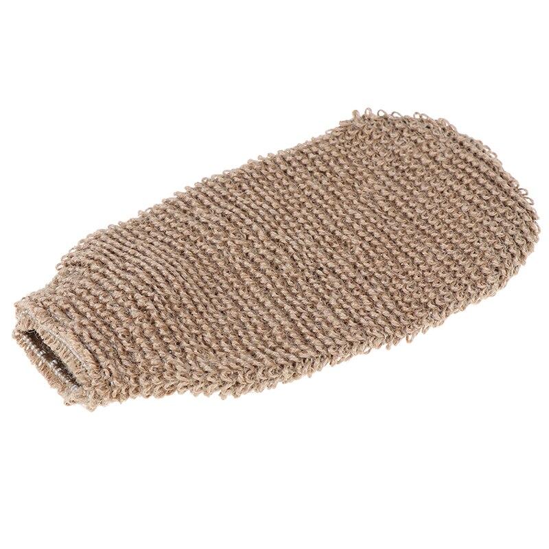 Волокно ванна перчатки отшелушивание кожа умывание пена полотенце массаж спина душ скрабер конопля тело очистка полотенце губки новинка
