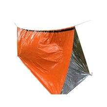 2* Многоразовый аварийный спальный мешок тепловой водонепроницаемый походный коврик для выживания