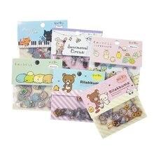 80 unids/pack oso Kawaii gato conejo pegatina para álbum de recortes DIY diario decoración notas recordatorias adhesivas de Deco etiquetas engomadas del teléfono