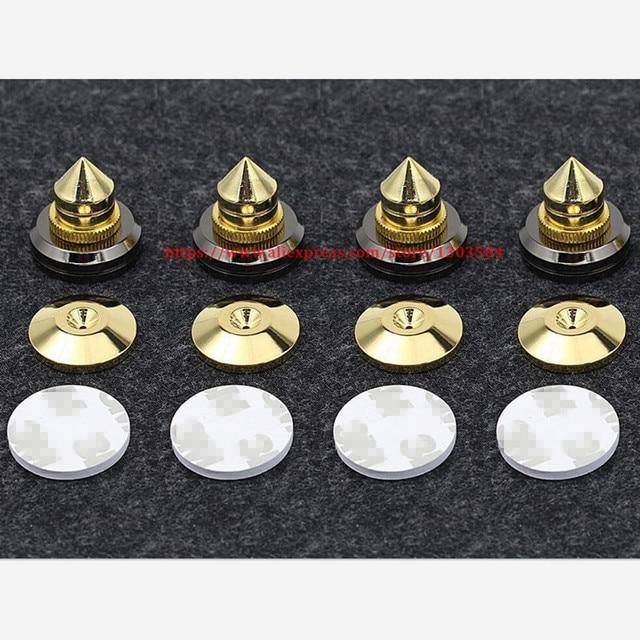 4 SET Mini Portable Audio Speaker Spikes Speakers Repair Parts DIY Speaker Stand Shock Pin Nails And Pads Accessories