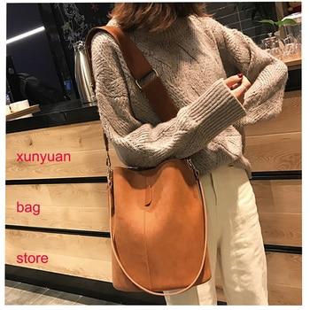 For Women 2020 Fashion Purse PU Leather Women Handbags Solid Elegant Female Retro Shoulder Totes Bags