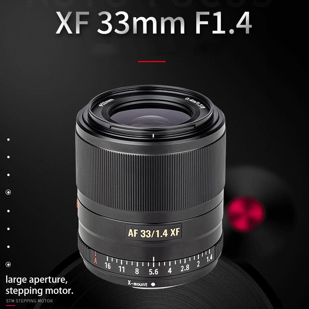 VILTROX 33mm F1.4 mise au point automatique objectif fixe avec pare-soleil pour appareil photo Fujifilm x-mount lentille lente para celulaire