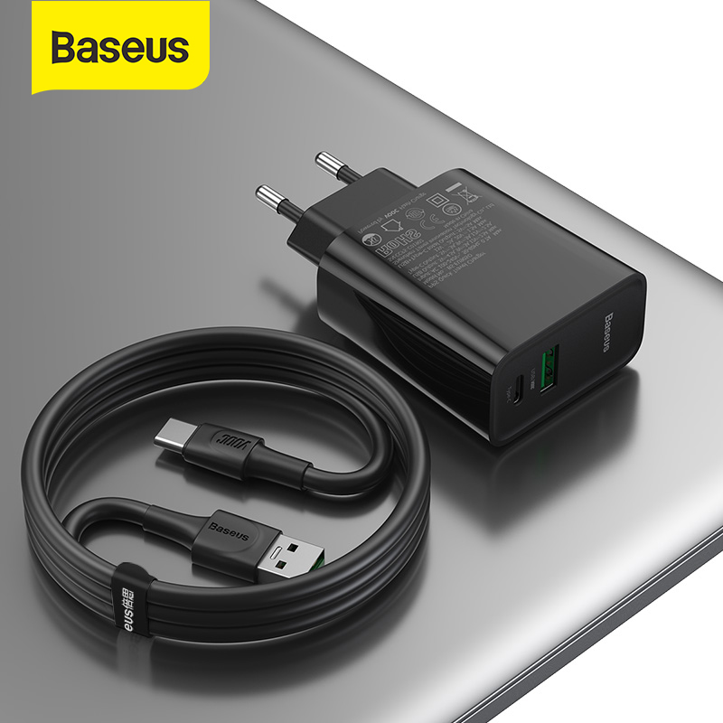Baseus <font><b>30W</b></font> <font><b>USB</b></font> <font><b>Charger</b></font> Support VOOC Flash Charging QC3.0 PD 3.0 Fast <font><b>Charger</b></font> with 5A Type C to <font><b>USB</b></font> Cable ForR17 Pro ForXiaomi image