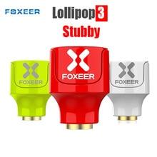 Foxeer Lollipop 3 Stubby antena SMA para Dron de carreras de control remoto, 5,8 GHz, 2,5dbi RHCP/LHCP FPV, seta 4,8g, 2 uds.