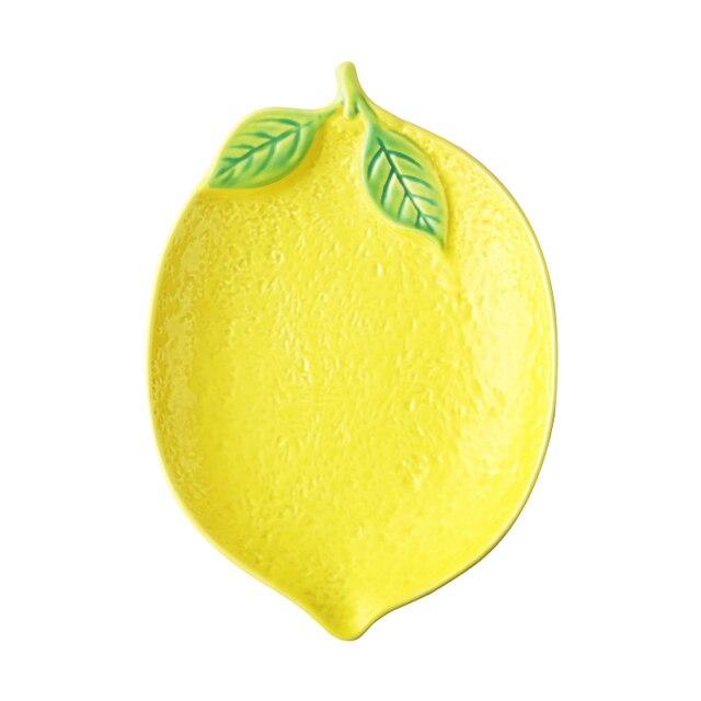 тарелка в форме лимона керамическая тарелка миска для риса семейная фотография