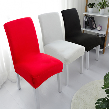 YRYIE Solid Color Chair Cover Spandex Elastic Chair Slipcover Case Stretch for Hotel Banquet Home Dining Room chair covers 1PC 1