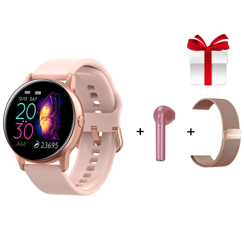 Smart Watch DT88+Strap+Eaphone/Set Smartwatch Women Men Heart Rate Monitor IP68 Waterproof Fitness Tracker For IOS Android
